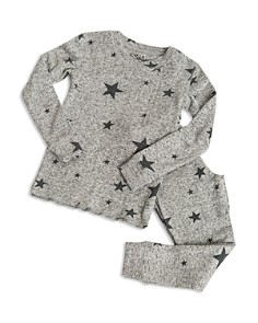 PJ Salvage - Girls' Marled Star-Print Pajama Shirt & Pants Set - Little Kid, Big Kid